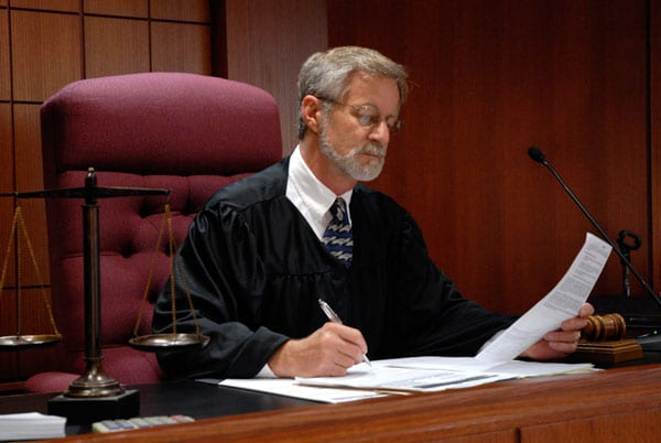 Judge Making a Probate Decision